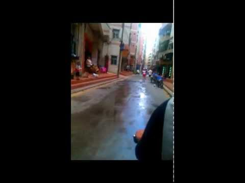 Riding on Motorcycle Taxi in Shenzhen, Guangdong, China...