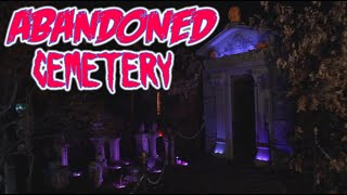 Halloween Yard Haunt Display: Abandoned Cemetery: Night Time Walk Through