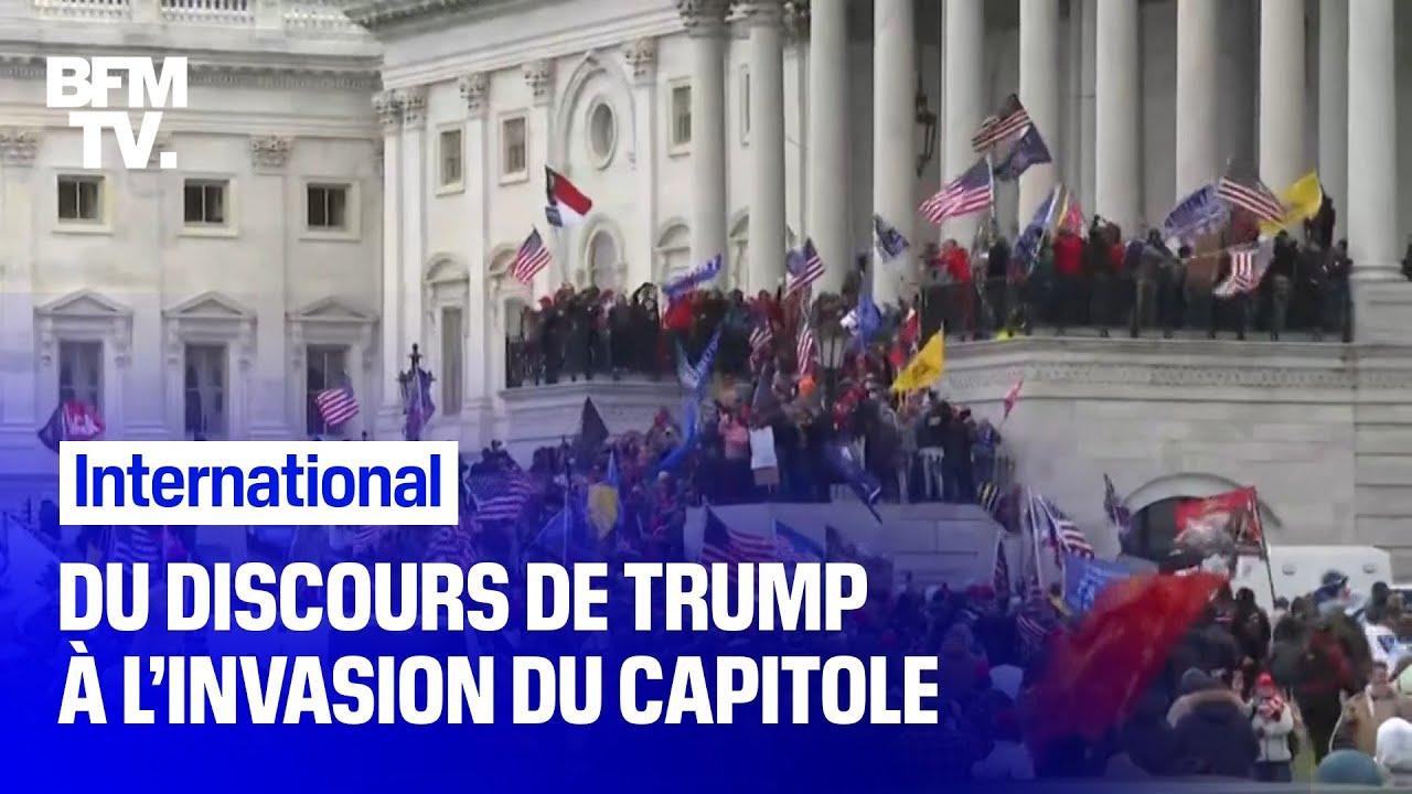 Du discours de Trump à l'invasion du Capitole: le récit d'un 6 janvier chaotique à Washington