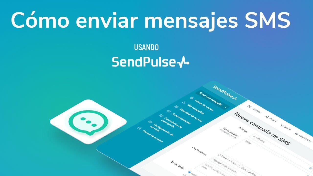Cómo enviar mensajes SMS usando SendPulse