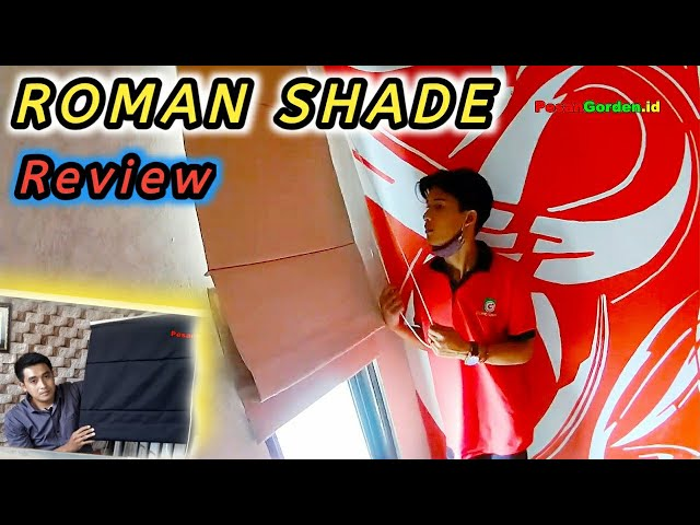 Roman Shade Windows Covering - Review 082310989451 #tirai #windowblind