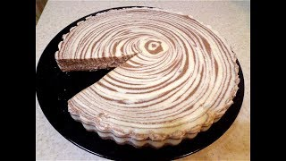 Ванильно-шоколадный десерт.  Нежное, творожное желе.