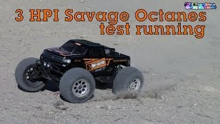 3 HPI SAVAGE OCTANES! RC Roulette!
