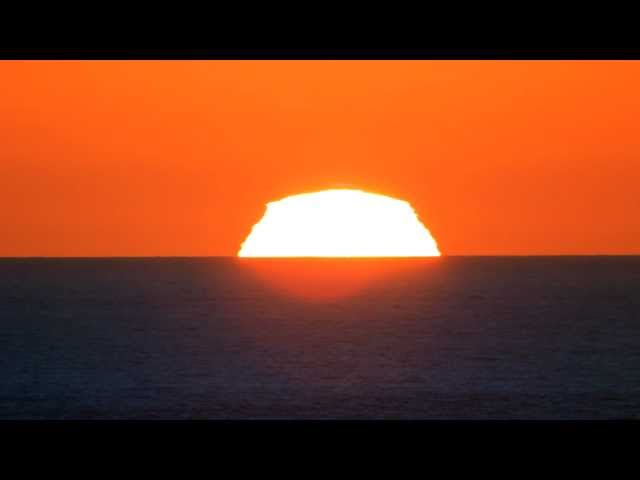 A perfect Green Flash Sunset