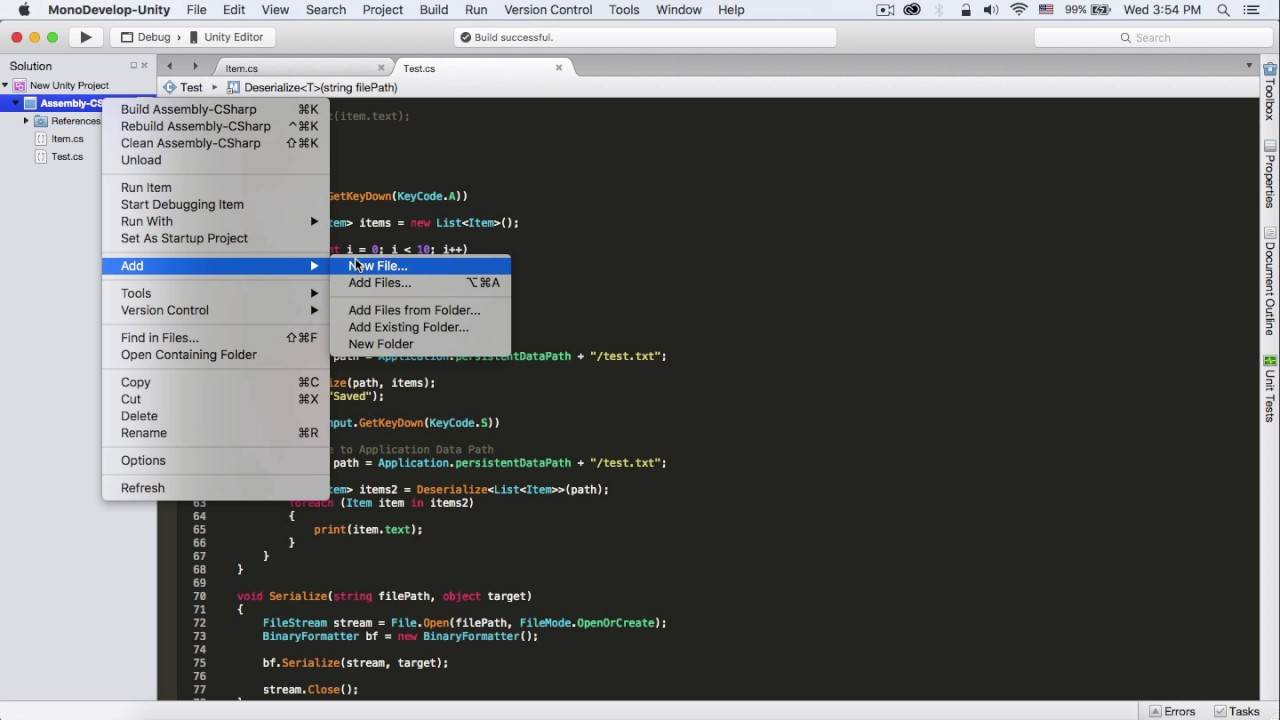 Download Unity : Read & Write File with BinaryFormatter