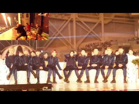 161119 MMA EXO's Reaction to BTS Blood Sweat Tears + FIRE
