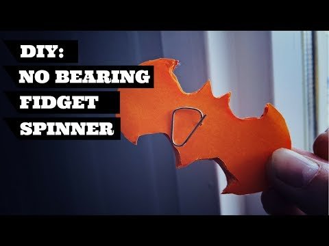 No Bearing Fidget Spinner DIY Batman Design | DIY Fidget Spinner Without A Bearing