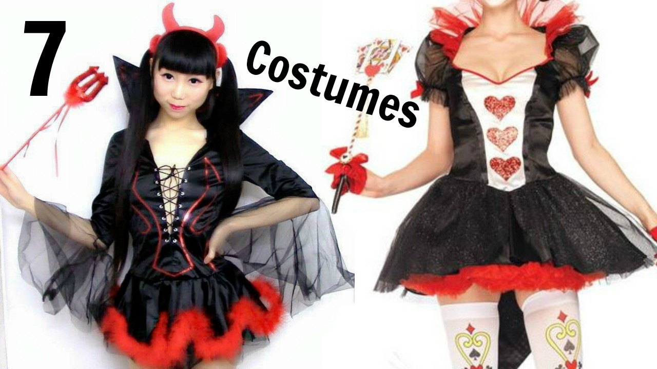 Try On Different Hair Styles: Try On 7 Different Styles Costumes In 3mins