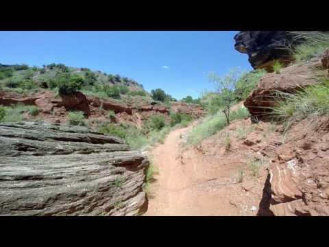 Hiking in Palo Duro Canyon near Amarillo, TX