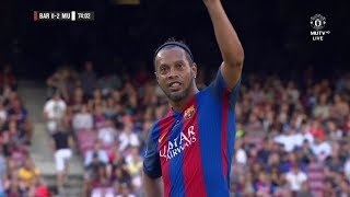Ronaldinho Vs Manchester United Legends  Camp Nou Return   30/06/2017  Hd 720p