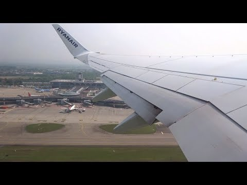 [FLIGHT TAKEOFF] Ryanair 737-800 - Sunny Day in Basel to Dublin