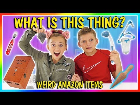 WHAT IS THIS!?!? | WEIRD AMAZON ITEMS | We Are The Davises