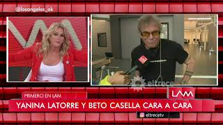 Beto Casella y Yanina Latorre frente a frente