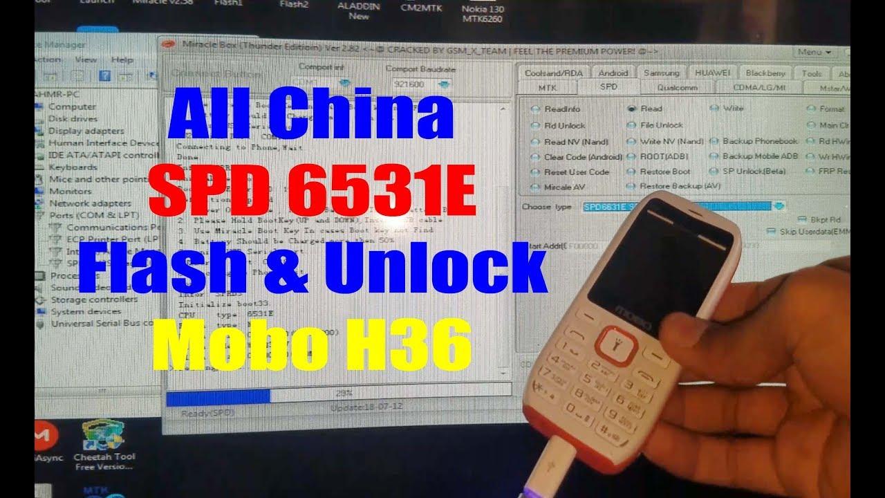 (4K) SPD 6531E/G Flash Unlock Boot Without Box Free Tool | Mobo H36 Flash  File | Urdu Hindi
