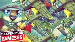 Battle Islands Online Game Play HUMANIMALBR (blue) vs UNSKINABLE (green)