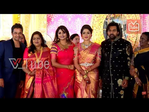 Rachita Ram At Meghana Raj & Chiranjeevi Sarja | Wedding Reception | 2018
