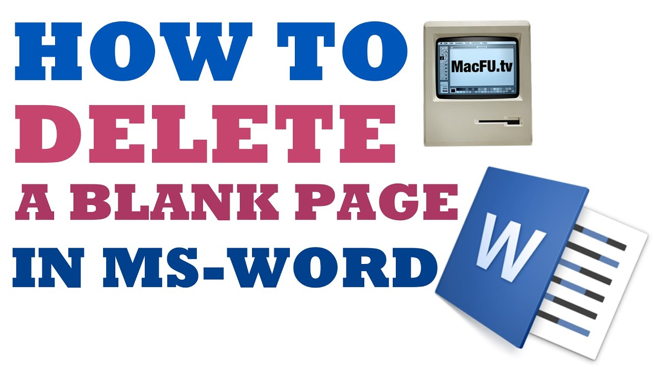 How To Delete A Blank Page In Microsoft Word (up To Microsoft Word 2016)