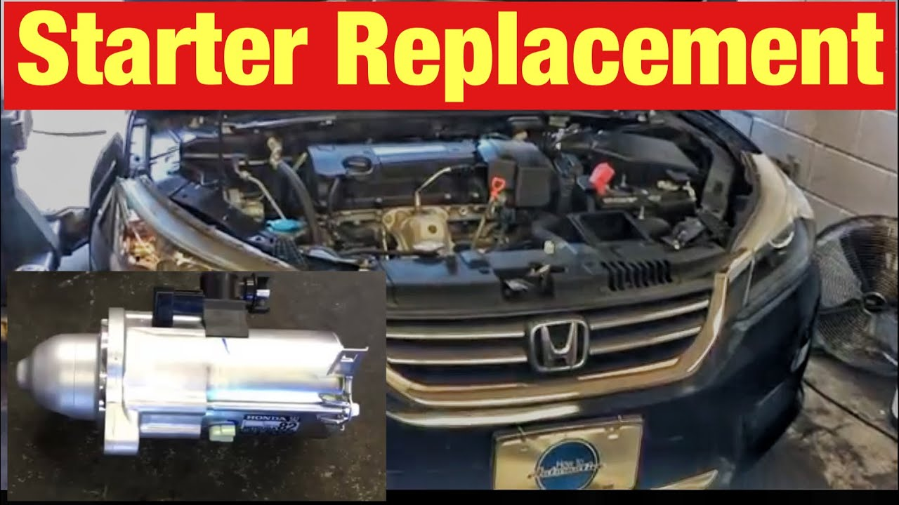 medium resolution of how to replace the starter on a 2013 honda accord