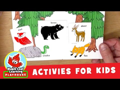 Forest Animal Activity for Kids | Maple Leaf Learning Playhouse