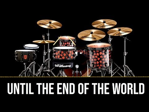 #7 Me PLAYING U2's UNTIL THE END OF THE WORLD On VIRTUALDRUMMING.COM