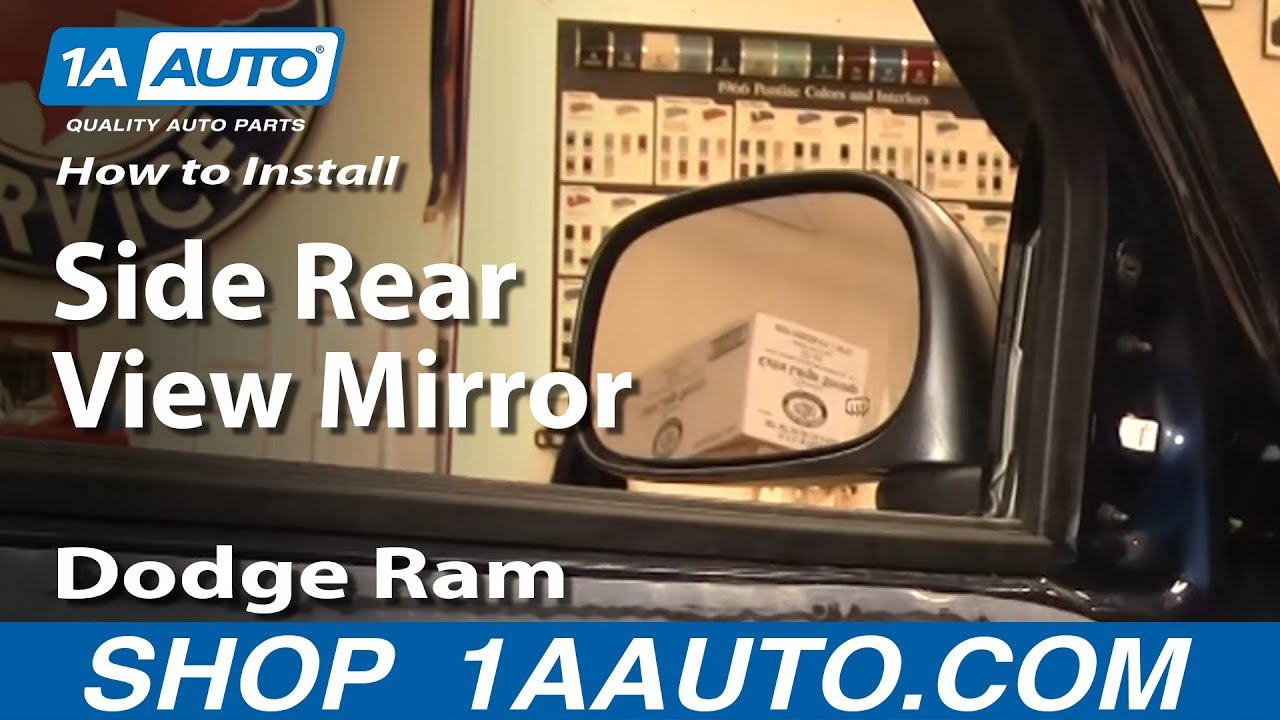 How To Install Repair Replace Side Rear View Mirror Dodge