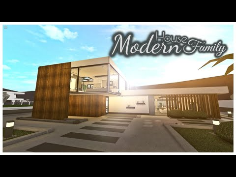 Modern House Part1 2 House Build Bloxburg Youtube