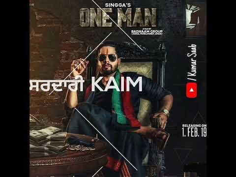 Tere Shehar vich Jatt ne Sardari Kaim kri ae / ONE MANSINGGA WHATSAPP STATUS /Punjabi lyrics sta