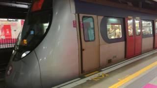 往屯門列車駛離紅磡站 d301 d302 train to tuen mun depart from hung hom station