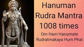Hanuman Rudra Mantra 1008 times | Om Ham Hanumate Rudratmakaya Hum Phat