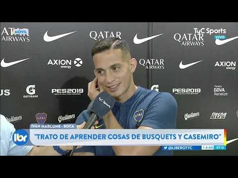 Marcone, entre el profesionalismo con Boca y la simpatía por Independiente