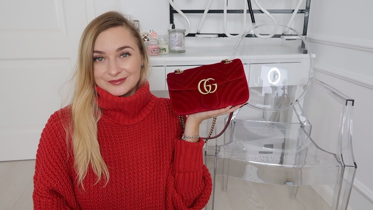 ba6603671e95 GUCCI MARMONT VELVET MINI BAG - YouTube