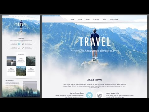 Design Travel Single Page Website Using Photoshop
