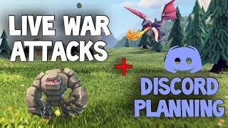 LIVE in the Hive! Attacks and Planning - End of CWL War #1 | Clash of Clans