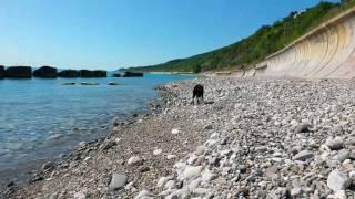 """Лазаревское 2017. """"Дикий"""" пляж ...вот такая встреча!)))"""