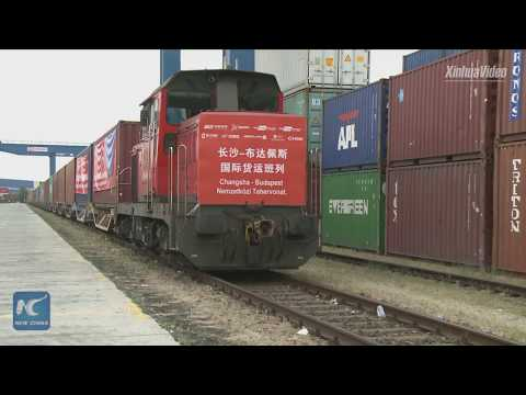 A new channel! 1st freight train from central China's Changsha arrives in Budapest