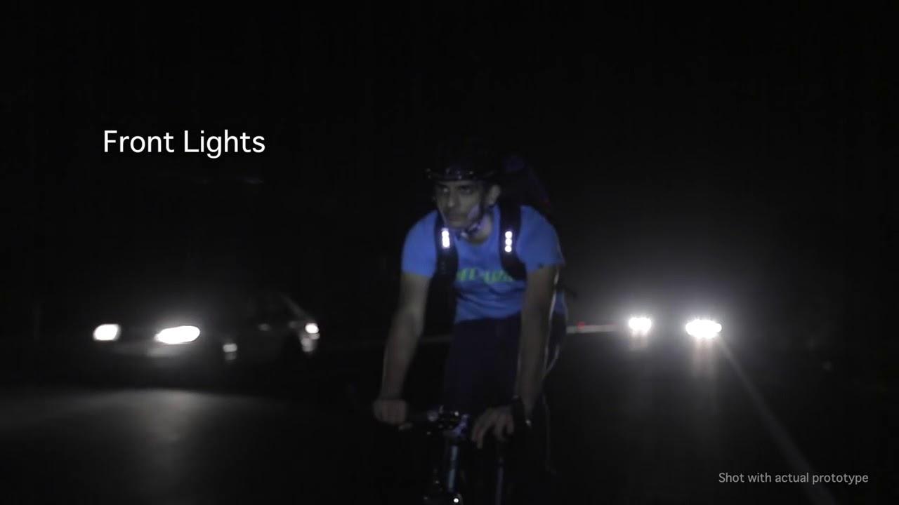 c9001705f Lumos Aster World's safest commute backpack