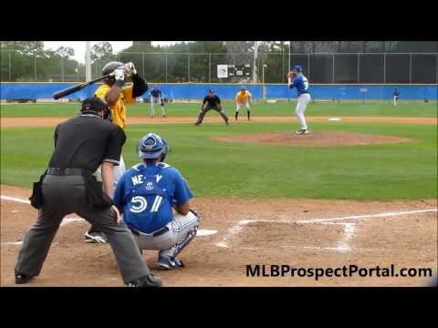 Blue Jays RHP Matt Johnson vsPirates OF Jesus Vasquezminor league spring training 2013