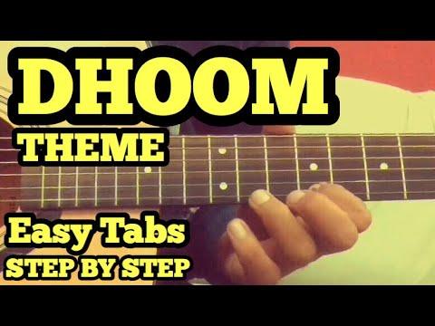 DHOOM THEME Guitar Tabs/Lead Lesson | Easy for Beginners | fuZaiL Xiddiqui