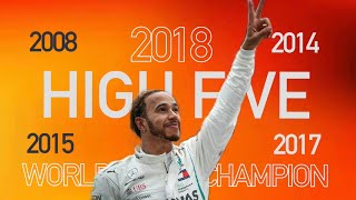 ᴴᴰ| High FIVE for Lewis Hamilton - 2018 World Champion