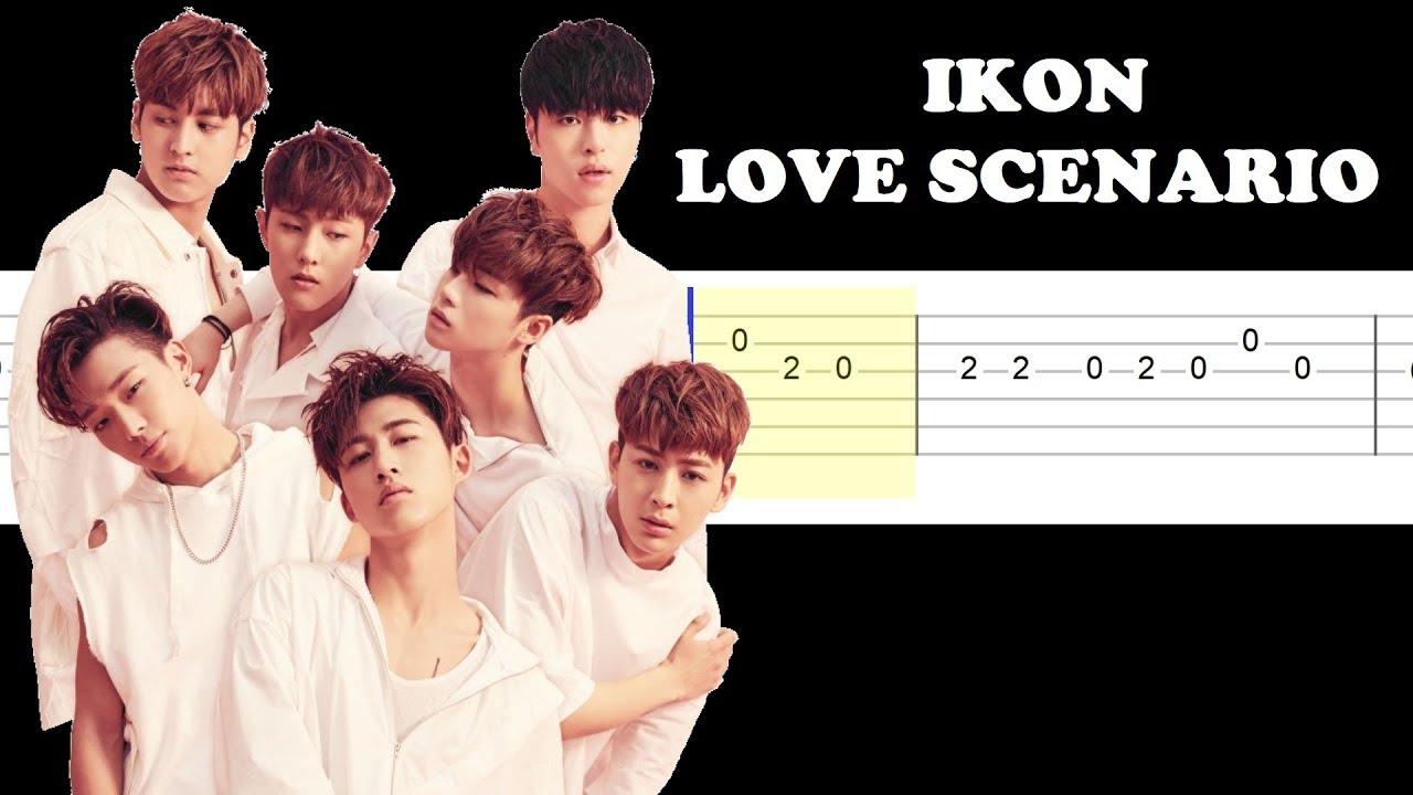 Ikon Love Scenario Easy Guitar Tabs Tutorial Youtube
