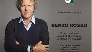Conferimento PhD honoris causa a Renzo Rosso