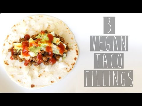 3 Simple and Healthy Vegan Taco Filling Recipes (Lentils, Rice, Cauliflower Bites) | Eva Chung