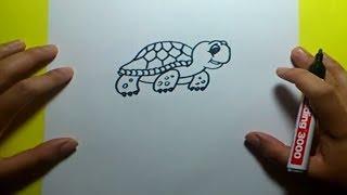 Como dibujar una tortuga paso a paso 3 | How to draw a tortoise 3