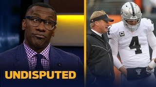 Skip and Shannon think Jon Gruden isn't sold on Carr as Raiders long-term QB   NFL   UNDISPUTED