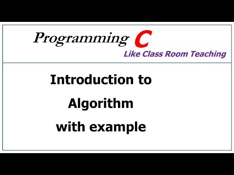 algorithm in c language