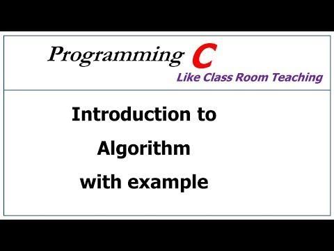 algorithm in c language