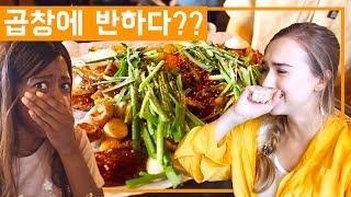 곱창 처음 먹어본 호주 사라! 나혼자산다 화사가 먹은 곱창 실패! Feat. 휘트니