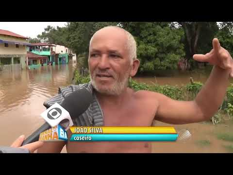 "TV Bahia - Jornal da Manhã: ""Chuva transborda Rio Grande"" | Barreiras-BA (22 jan 2016)"