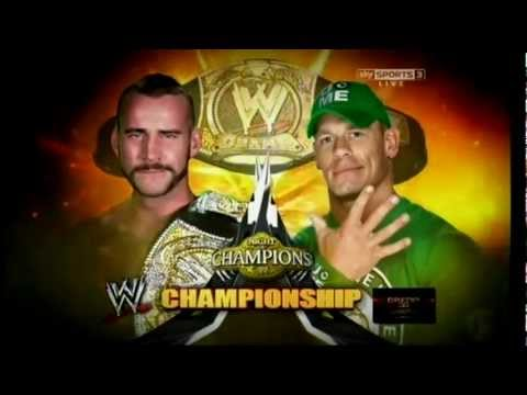 WWE Night of Champions 2012 Official Match Card (Champion) HD
