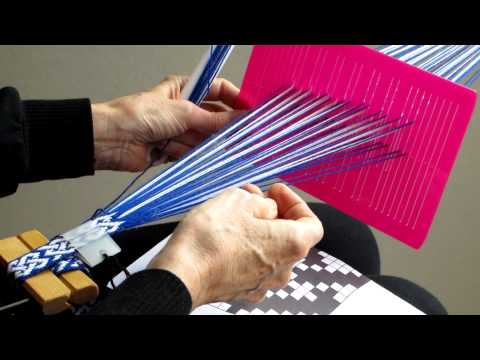 Using The Sunna Heddle To Weave Patterned Bands